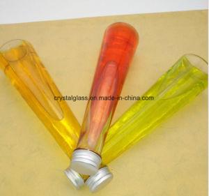 lange Form-Saft-Milchflasche des Kegel-350ml mit Kappe