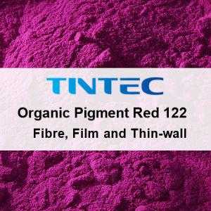 赤い顔料122のコーティングの粉(ポリマーの広い範囲)