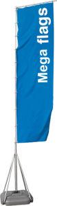 4M/5M/7m pólo bandeira gigante no exterior