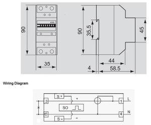 Корпус для направляющих DIN небольшой цифровой счетчик электроэнергии