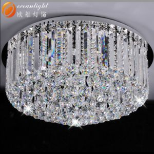 Aço inoxidável da lâmpada de cristal lustres de novo a luz de teto Om8320 Diam60cm