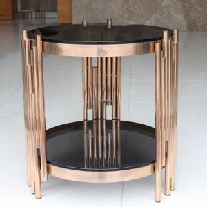 新しいデザイン金属フレームが付いているガラスコーヒーテーブル
