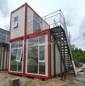 新しい到着のプレハブのガラス木容器の家のプレハブのホームドイツ語