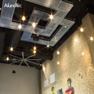 2018 ventilación más populares de recubrimiento de polvo metálico perforado el panel de techo