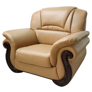 Sofà di cuoio di Loveseat dell'esportazione della mobilia professionale della casa (1121#)