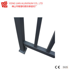 De Omheining van het Balkon van het Aluminium van de Deklaag van het poeder/Guardrail/Handrail die door Aluminun Extrusion het Profiel van de Legering wordt gemaakt