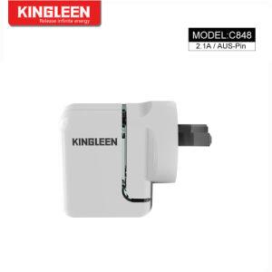 Пробка SAA настенное зарядное устройство USB 2.1A/5V двойной порт USB Cube зарядки адаптер питания для мобильных телефонов