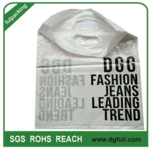 Griff gestempelschnittene Einkaufstasche passte Geschenk-Beutel-fördernden Plastikkleid-Beutel an