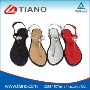 Les femmes élégantes Mesdames les chaussures plates Clip Toe sandales en PVC