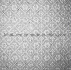レースの服の刺繍の羽の綿のテュルファブリック綿