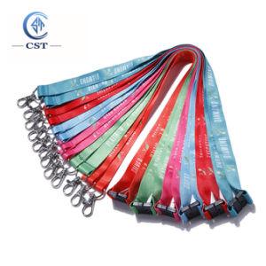 Comercio al por mayor personalizar el logotipo impreso Lanyard/Correa o cordón de tejido (regalo promocional)