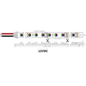 ULのセリウム12VDC 14.4W/M 5060のLEDピクセル適用範囲が広い滑走路端燈RGB