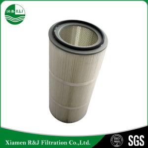 La polvere rimuove la cartuccia di filtro dell'aria pieghettata poliestere