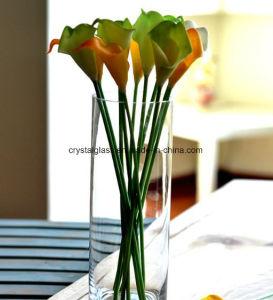 Vase en verre clair & porte-bougie
