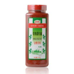 Las hierbas y especias secas pimentón rojo dulce natural en polvo