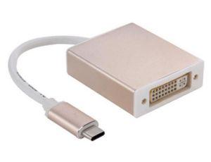 金または銀15cm USB 3.1のタイプCからDVIのアダプターケーブル