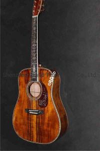 Aaaa sólidos de madera de Koa Dreadnought cuerpo D-45ak guitarras eléctricas acústicas