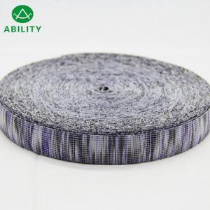 100% poliéster tejido Jacquard Popular Multi Color cinta elástica