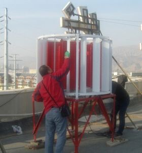 Vertical Wind Turbine (SHJ-NEW2000)에 Grid 단 하나 Phase 2kw
