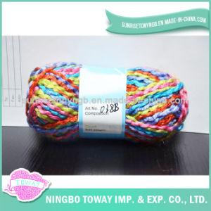 Bufanda Fancy Pot-Bellied tejido de hilo de tejer a mano de acrílico
