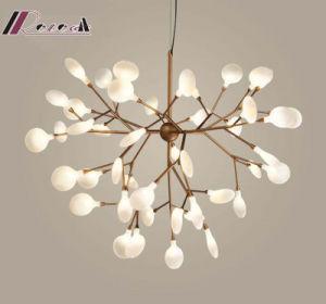 La moderna rama del árbol de luz LED lámpara colgante para aseos