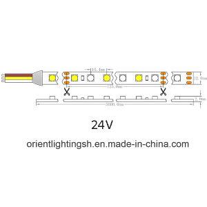 UL Ce Epistar Variable 5050 Color blanco de 24V 23W/M TIRA DE LEDS