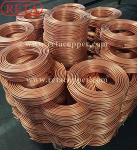 Pancake Coil HVAC Copper Coil, Refrigeração Soft Coil Tubo de cobre