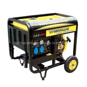2kw 2kVA si dirigono il generatore portatile diesel di uso con le maniglie e le rotelle pieganti