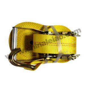 5t引き込み式ストラップを打つ黄色いポリエステル貨物