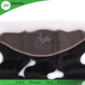 Brasilianische Jungfrau-Haar-Spitze-frontales Ohr dem Schliessen zu des Ohr-13X4