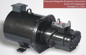 Deux à haute efficacité de l'air rotatifs à vis du moteur du compresseur