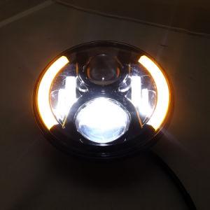La ronda 7 LED de alta/baja de faros de coche para Jeep