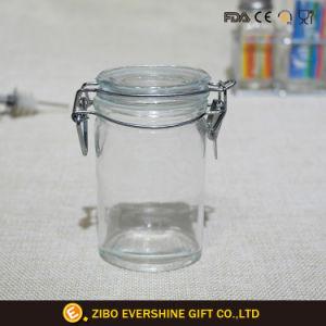 يوسع فم مرطبان تخزين مع زجاجيّة غطاء ومعدنة مشبك