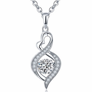 Manier 925 de Zilveren Dansende Zilveren Tegenhangers van de Juwelen van de Diamant