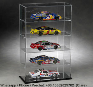 Grandes OEM Clear Acrílico Car Moldes Display Cases