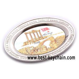 Custom металлические пустой холодильник магниты циркуляр сувениры (BK53277)