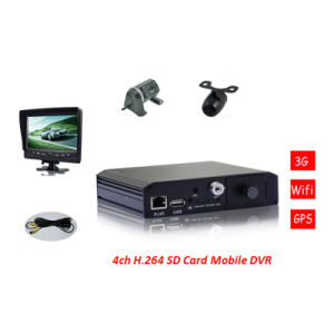 4-CH H. 264 Compression Sd Card Mobile Car DVR