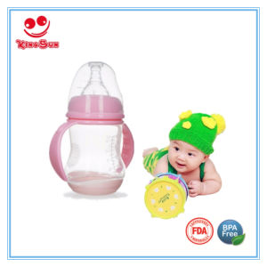 Breiter Stutzen-Fühler-führende Säuglingsflasche mit Unterseite