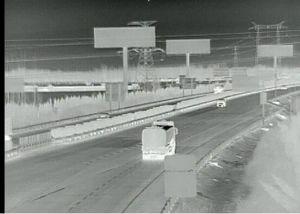 Lente de 25 mm câmara CCTV PTZ de imagens térmicas para veículo
