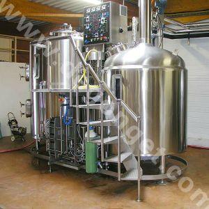 500L'acier chauffée à vapeur commercial Brasserie système clé en main