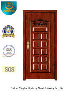 Style classico Security Door con Carving (b-6002)