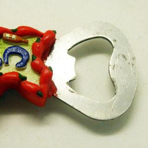 販売のためのPolyresinイタリアカラブリアの栓抜き冷却装置磁石の記念品