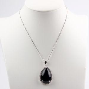 ナシ形状黒瑪瑙ファッションペンダント/ネックレスジュエリー