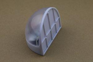 Reines weißes Garten-menschliches Induktions-Portal-Solarhalbrund-Ansicht-Lampe