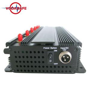6-kanaal Stoorzender van het Signaal van de Telefoon van de Hoge Macht van de Desktop de Cellulaire/Blocker, Blocker van de Telefoon van 6 Antennes Mobiele & UHF AudioStoorzender