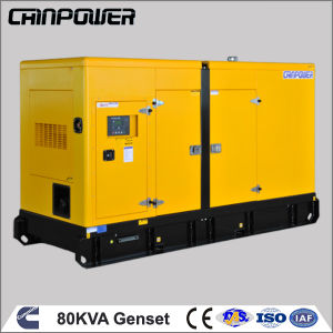 Cummins 6bt5.9-G1를 가진 80kVA Power Backup Soudproof Diesel Generator