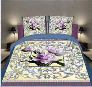 Luxury 3D Impresso Home roupa de cama e edredão cobrir Bedsheet têxteis
