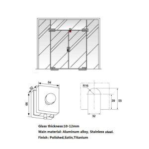 유리제 문 부속품 PF090를 위한 위 밑바닥 죔쇠 클립을 적합한 유리제 자물쇠 패치