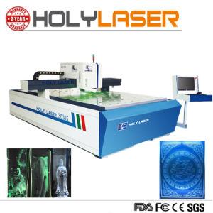 Machine van de Gravure van de Laser van de Grootte van de hoge snelheid de Grote voor Pic de Tekst van de Foto in Glas