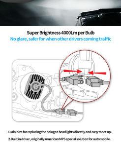 1台のLEDのヘッドライト車の高く明るい50W 4000lmすべて